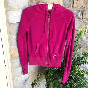 American Eagle Pink Fleece Hoodie Size XS/TP